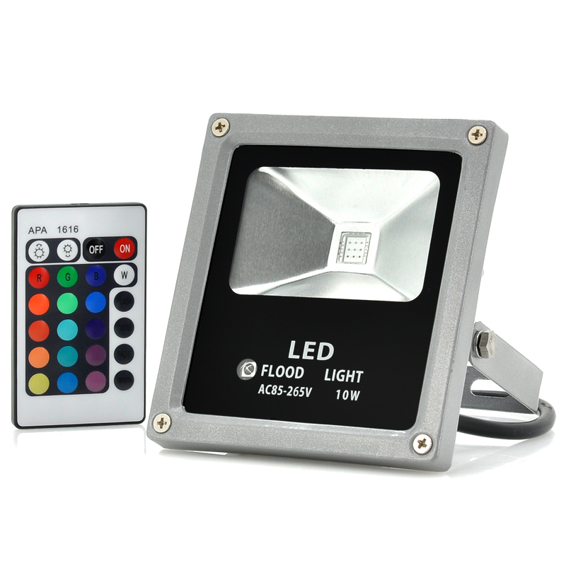 (M) LED Flood Light 10W Multicolor w/ Remote (M)