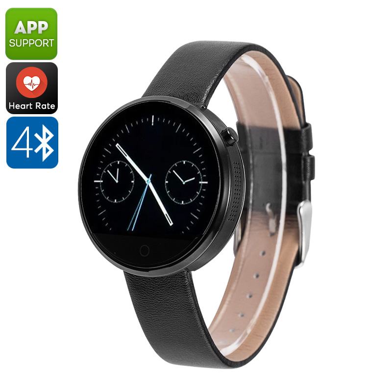 DM360 Smart Watch - Heart Rate Monitor, App Support, 320mAh, Bluetooth 4.0, Calls, Messages, Pedometer, Sleep Monitor (Black)
