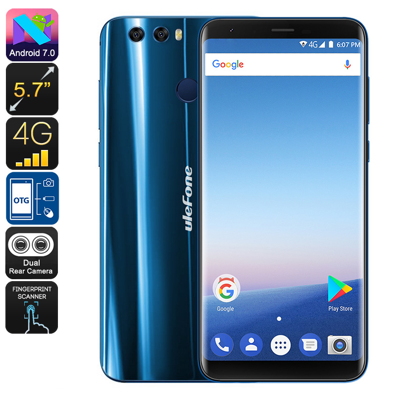 HK Warehouse Ulefone Mix 2 Android Smartphone - 13MP Dual-Cam, MediaTek CPU, Android 7.0, 2GB RAM, 3300mAh (Blue)