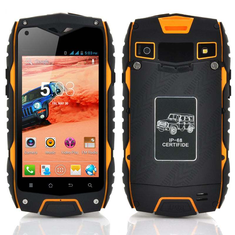 (M) Rugged 4 Inch Android 4.2 Phone (Yellow) (M)
