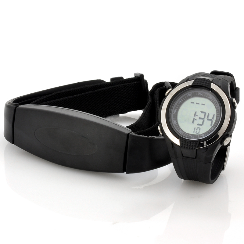 (M) Heart Rate Monitor Watch w/ Chest Belt (M)