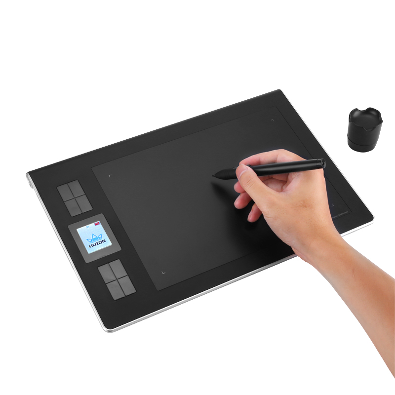 Huion DWH69 Wireless Graphics Tablet - 2.4G Wireless, 9x6-Inch Drawing Area, 5080LPI, 233RPS, Rechargeable Stylus Pen