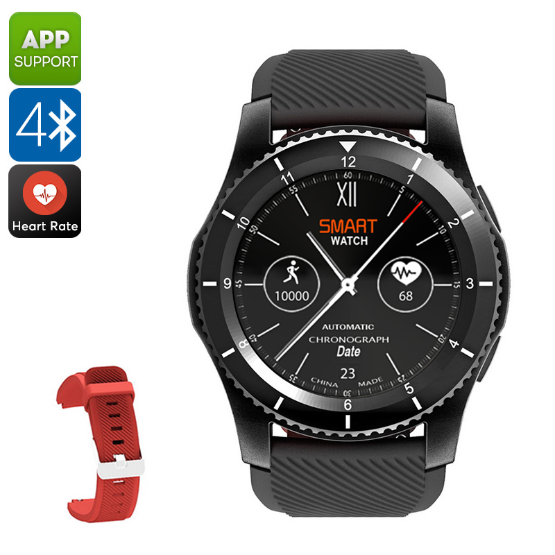 NO.1 G8 Phone Watch - 1 IMEI, Bluetooth 4.0, Sleep Monitor, Pedometer, Sedentary Reminder, Heart Rate Monitor, App Support