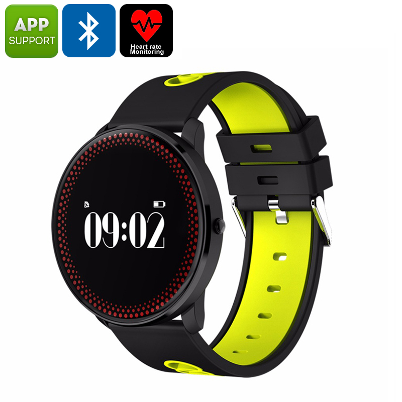 ORDRO CF007 Bluetooth Watch - Blood Pressure, Heart Rate, Pedometer, Calories Burned, App Support, Bluetooth (Yellow)