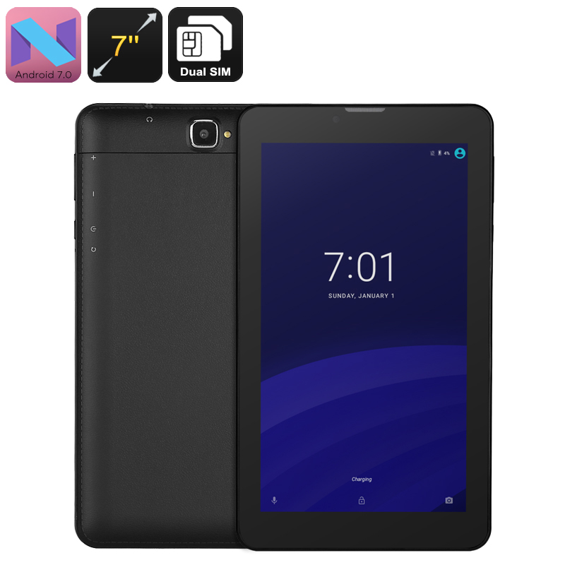 3G Android Tablet - Android 7.0, Quad-Core CPU, Dual-IMEI, 7-Inch Display, 2200mAh, WiFi, 2MP Camera, Bluetooth