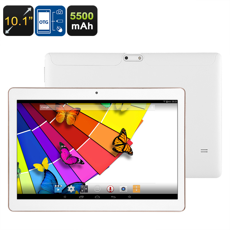 Android Tablet PC - Quad-Core CPU, 10.1-Inch Display, Bluetooth Support, 2MP Camera, WiFi, 5500mAh Battery, 32GB ROM, OTG