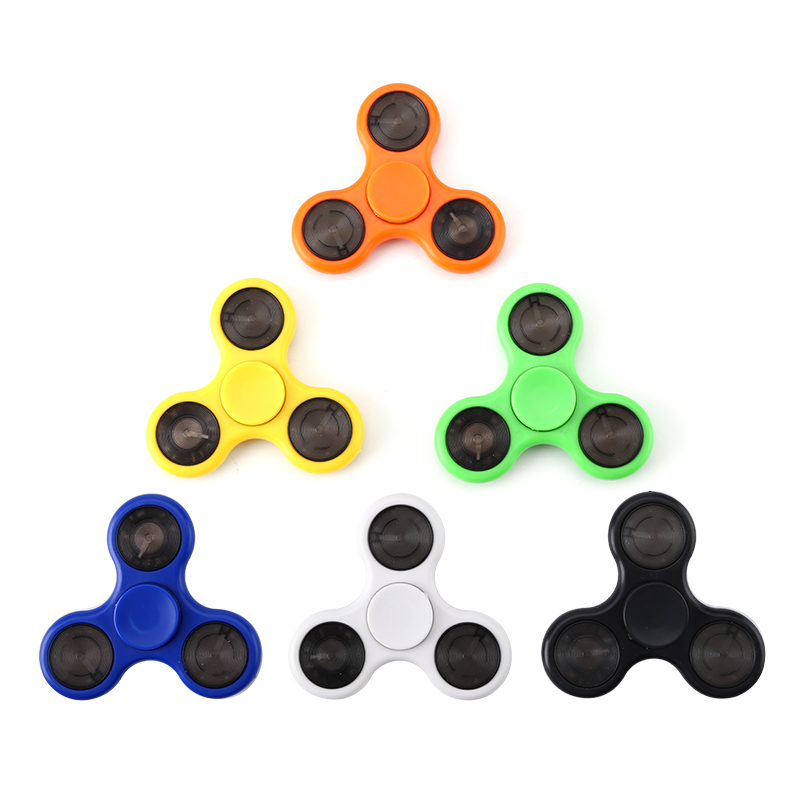 6 Piece Fingertip Gyroscope Pack - ABEC-7 Bearings, ABS Material, Reduce Stress + Anxiety, LED Lights, Random Colors