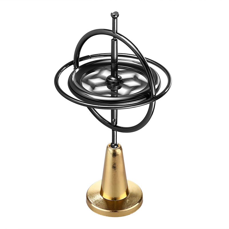 Gyro Spinner Desk Toy - Zinc Alloy Body, Release Stress, Anxiety, and Negative Thoughts