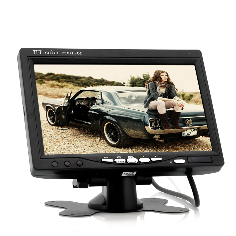 (M) 7 Inch Car Headrest Monitor w/ 800x480 (B) (M)