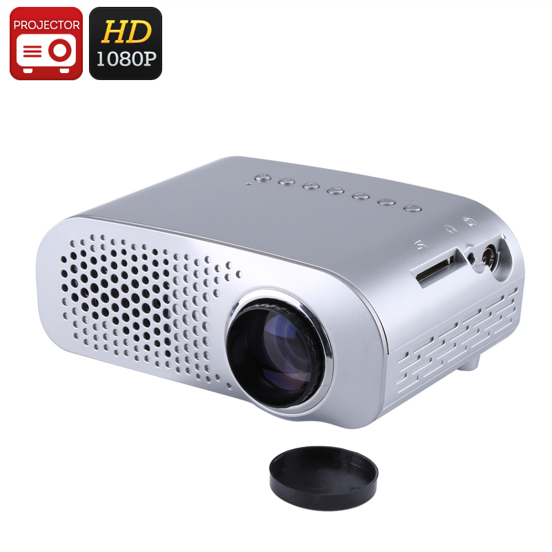 Mini Projector - 100 Lumen, 1080p Support, 500:1 Contrast Ratio, 32GB SD Card Slot, HDMI, VGA, 480x320p Native Resolution