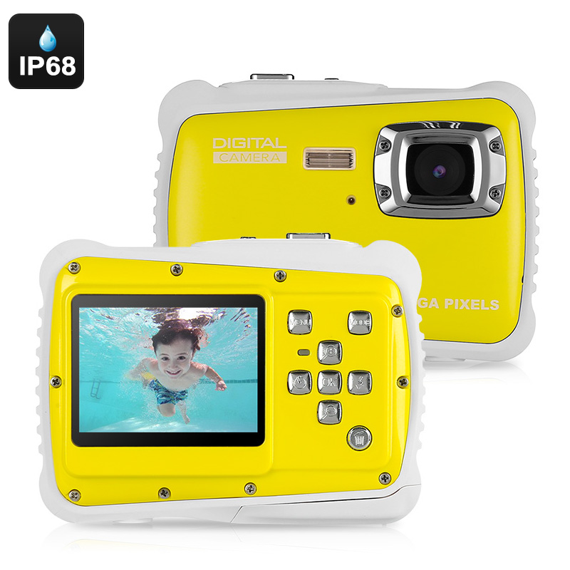 Powpro Kfun PP-J52 Underwater Camera - IP68 Waterproof, 2x AAA Battery, 2-Inch Screen, HD Video, 5MP Picture, 32GB SD Card