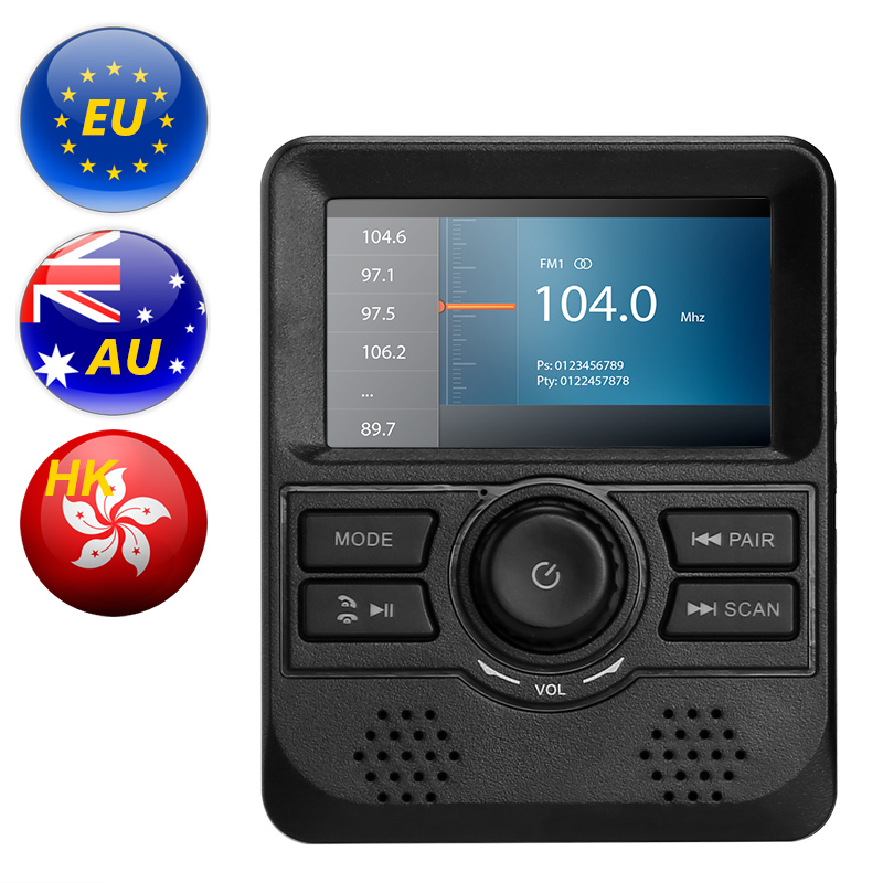 DAB Monitor - 3-Inch Display, FM Transmitter, Bluetooth, Aux Out, DAB Band III Frequency Range