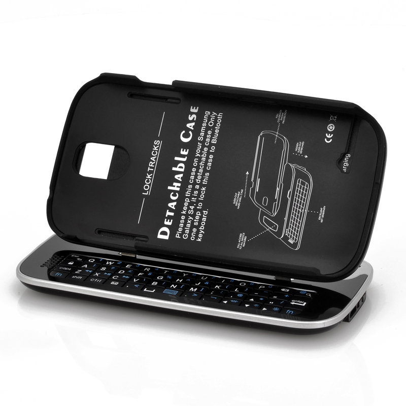 (M) Wireless Slideout Keyboard for Samsung S4 (B) (M)