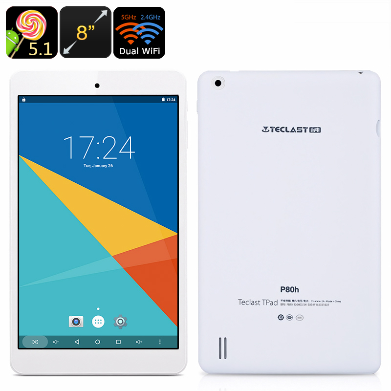 Teclast P80H Android Tablet - 8-Inch Display, 1280x800 Resolution, Google Play, OTG, HDMI Out, Quad-Core CPU, Dual-Band WiFi