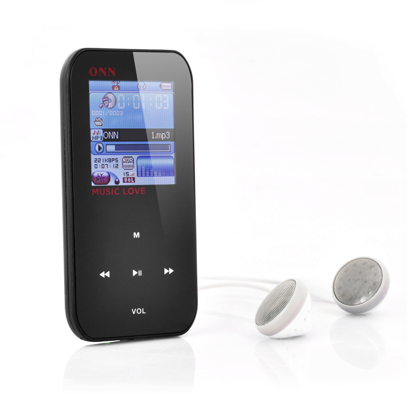 (M) ONN Q2 1.5 Inch LCD MP3 + MP4 Player (M)