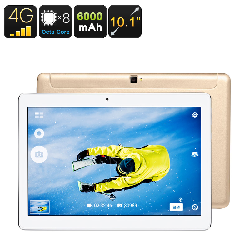 VOYO 10.1 Inch Tablet Computer - Octa Core CPU, 2GB RAM, 32GB Storage, 4G Support, Dual SIM, Micro SD Card, FHD Display