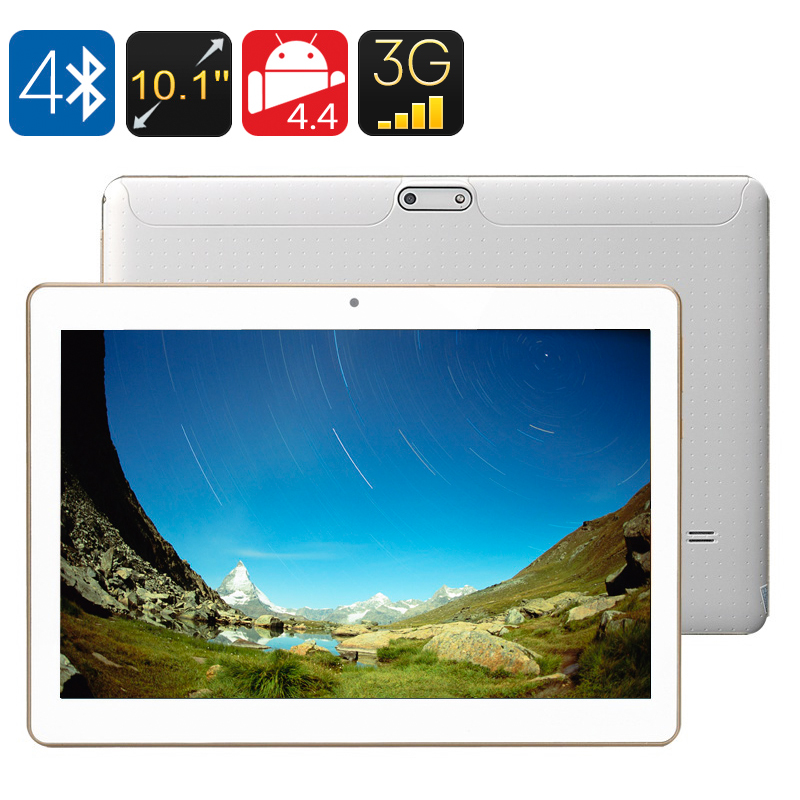 3G Android Tablet - 10.1 Inch IPS Screen, Android 4.4, 2GB RAM + 16GB ROM, Bluetooth 4.0, OTG