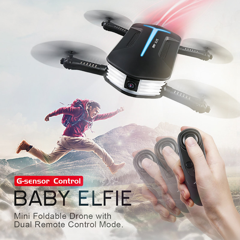 JJRC H37 Mini Baby ELFIE Camera Drone - 720P FPV, Smartphone App, Joystick Control, Folding Design, Altitude Hold, Headless Mode