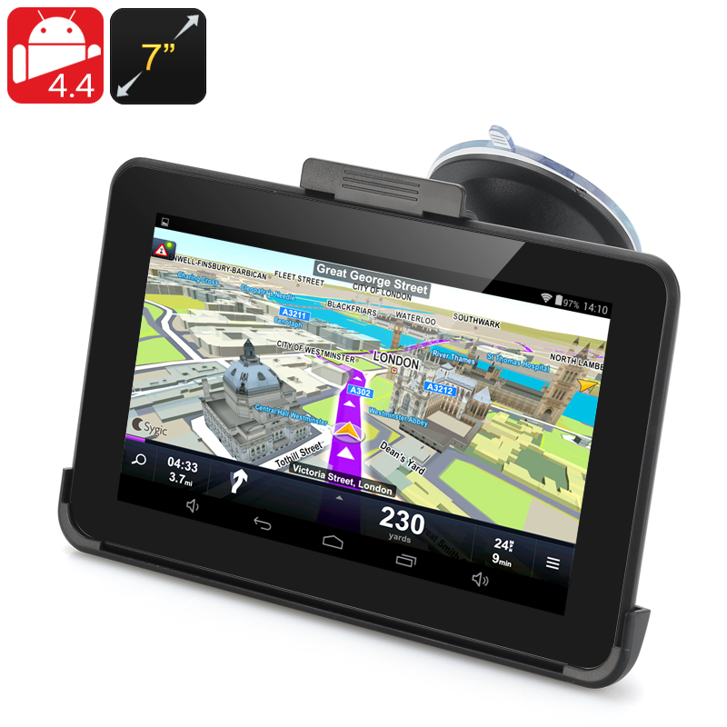 HK Warehouse 7 Inch Android 4.4 GPS Navigation - 800x480 Touchscreen, FM Transmit, 32GB Micro SD Card Support