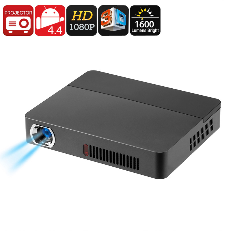 RD - 601 Smart 3D DLP Mini Projector - DLP Technology, 1080p Support, 1600 Lumen, 3D Support, Android OS, Quad-Core CPU, WiFi