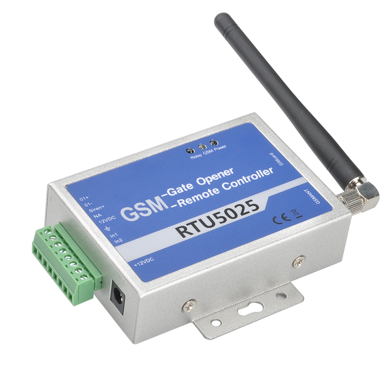 GSM Relay Controller - Quad Band GSM, Support 64 Authorized Numbers, No Call Fees (Blue)
