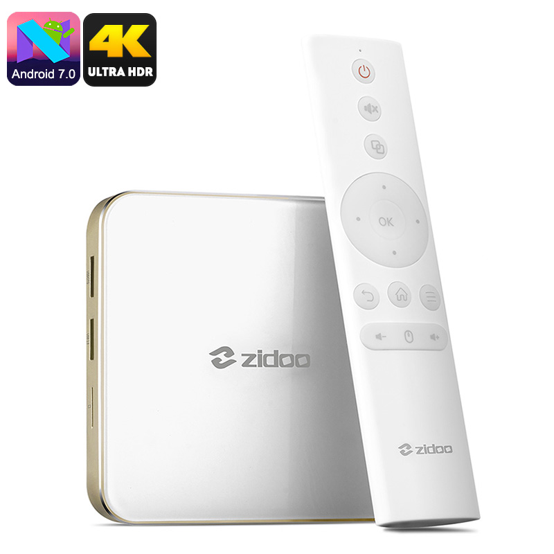 Zidoo H6 Pro Android TV Box - Android 7.0 OS, 2GB DDR4 RAM, Quad Core CPU, 4K, HDR, 10Bit Color