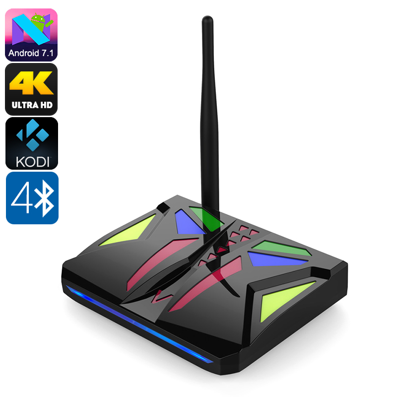 Android TV Box M92S - Android 7.1, Octa-Core CPU, 2GB RAM, 4K Support, Dual-Band WiFi, Miracast, Google Play, Kodi V17.1