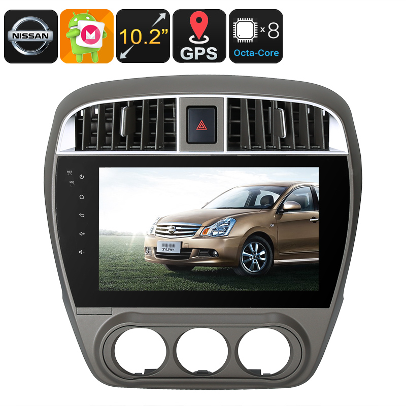 One DIN Android Media Player - Android 6.0, 10.2 Inch, For Nissan Cars, WiFi, 3G, CAN BUS, Octa-Core, 4GB RAM, GPS, HD Display