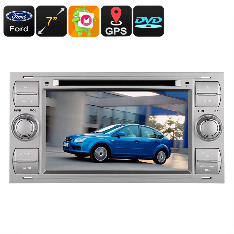 Dual-DIN Car DVD Player - Fits Numerous Ford Cars, Android OS, Octa-Core, 4GB RAM, Bluetooth, 3G, GPS, CAN BUS, Google Play