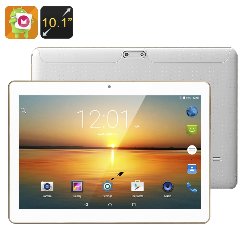 Android 6.0 Tablet - 10.1 Inch HD Display, Quad-Core CPU, Mali-400MP GPU, OTG Support, 4500mAh Battery