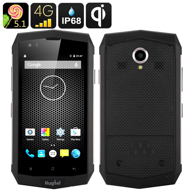 Rugtel X16 Rugged Smartphone - Quad Core CPU, 2GB RAM, 4G, NFC, IP68, Dual SIM, Gorilla Glass III