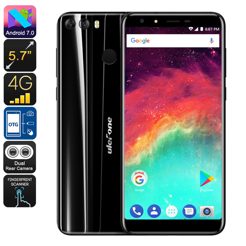 HK Warehouse Ulefone Mix 2 Android Smartphone - Android 7.0, MediaTek CPU, 2GB RAM, 3300mAh, 13MP Dual-Cam (Black)
