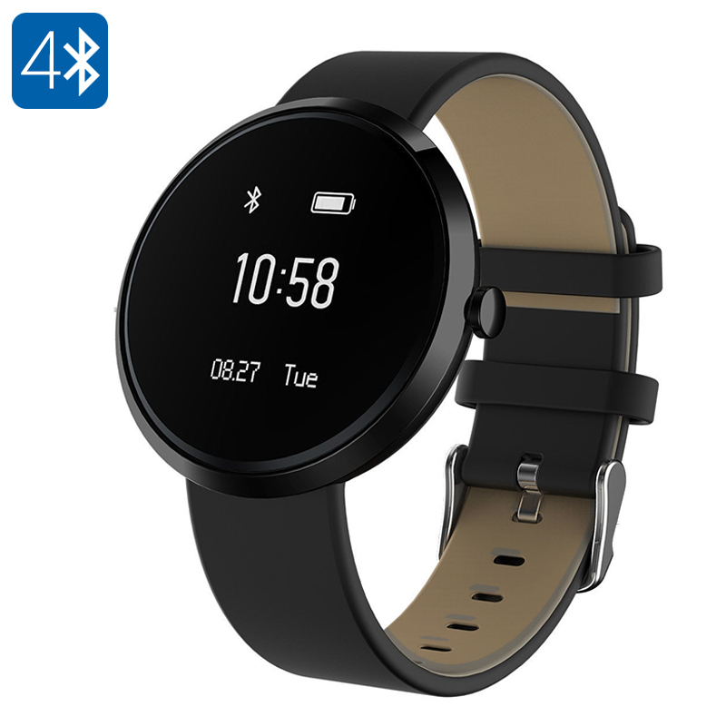 Ordro S10 Smart Sport Bracelet - Heart Rate Monitor, Blood Pressure, Sleep Monitor, Pedometer, Bluetooth, Calorie Counter(Black)
