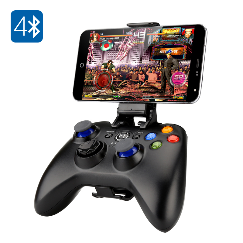 Bluetooth Game Pad - 2 Analogue Sticks, D-Pad, 8 Action Buttons, 400mAh Battery, Bluetooth 4.0