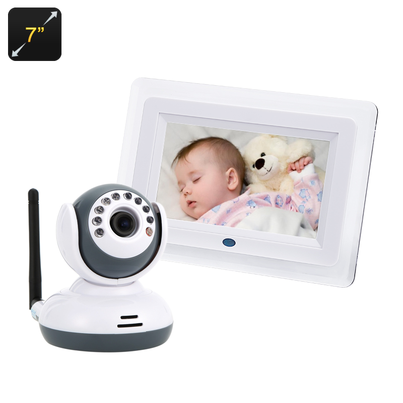 Baby Monitor + Wi-Fi Camera - 1/4 Inch CMOS Sensor, VOX, 7 Inch LCD Display, Night Vision