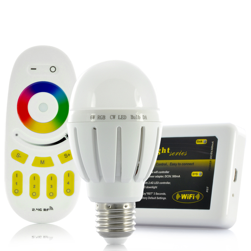 (M) Wi-Fi LED Light Bulb w/ Remote Control (M)