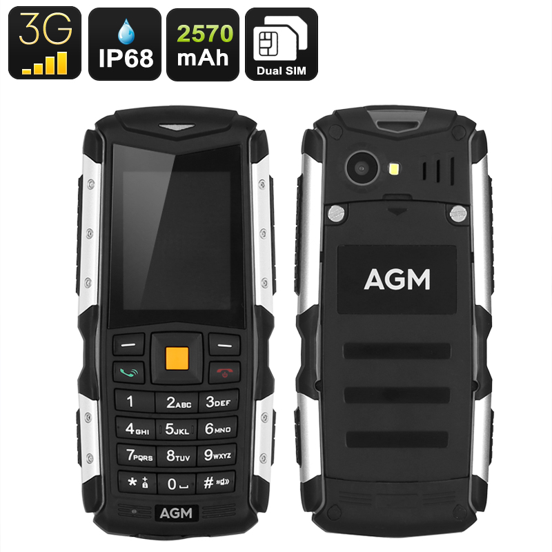 Rugged Mobile Phone AGM M1 - IP68, Dual-IMEI, 3G, Removable Battery 2570mAh, 2MP Camera