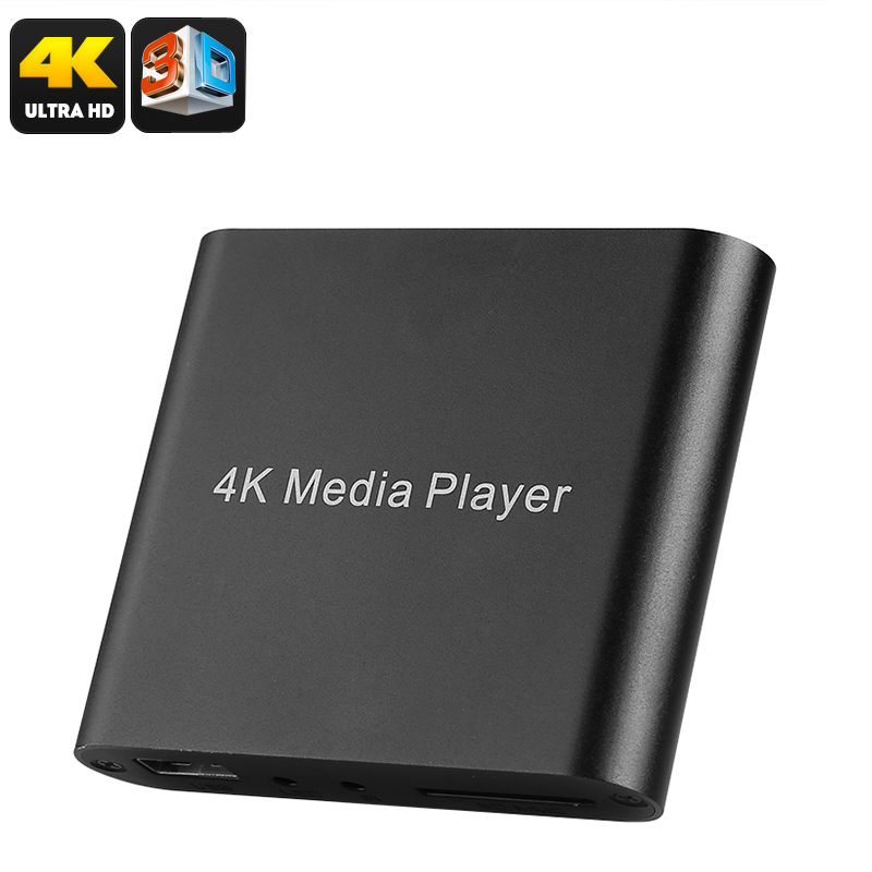 Mini 4K Media Hub For TV - 4K Media Support, 3D Support, USB, SD Card, HDMI, AV, For Pictures, Films, And Series