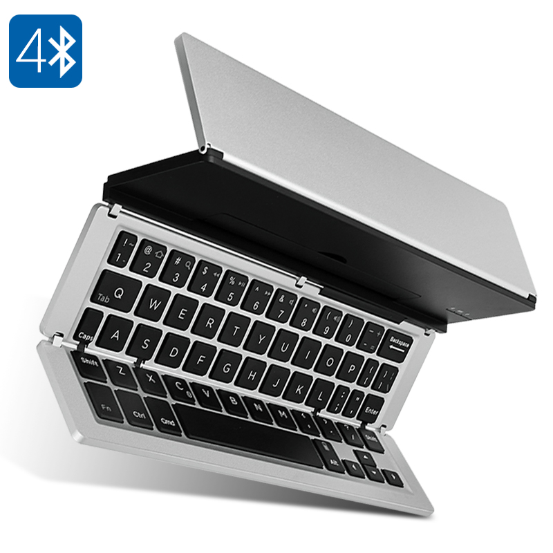F-18 Foldable Bluetooth Keyboard - Bluetooth 4.0, 10M Range, Long Battery Life, IOS, Android, And Microsoft Compatible