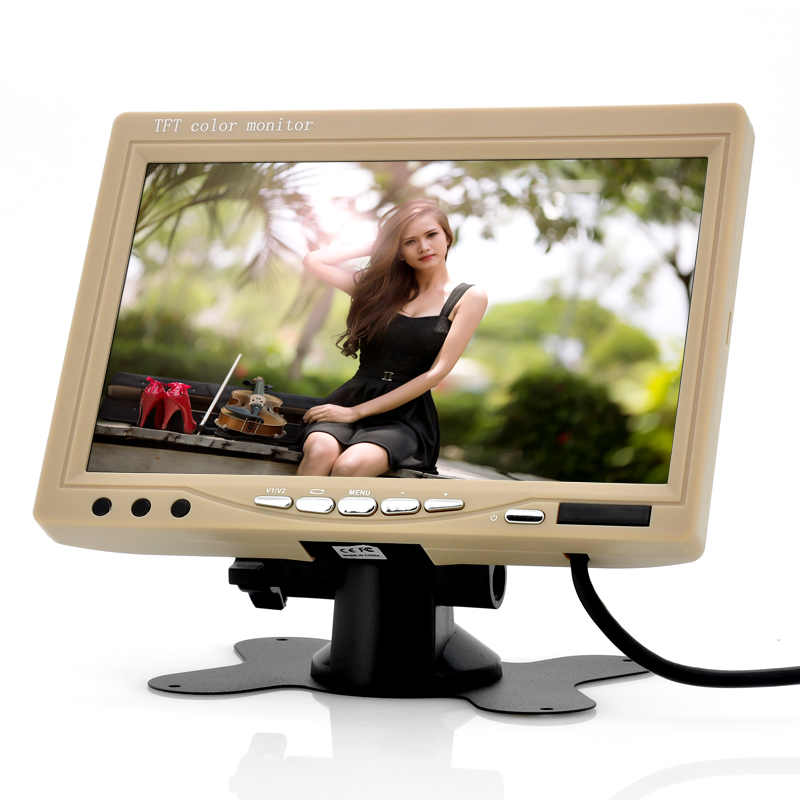 (M) 7 Inch Car Headrest Monitor (Tan) (M)