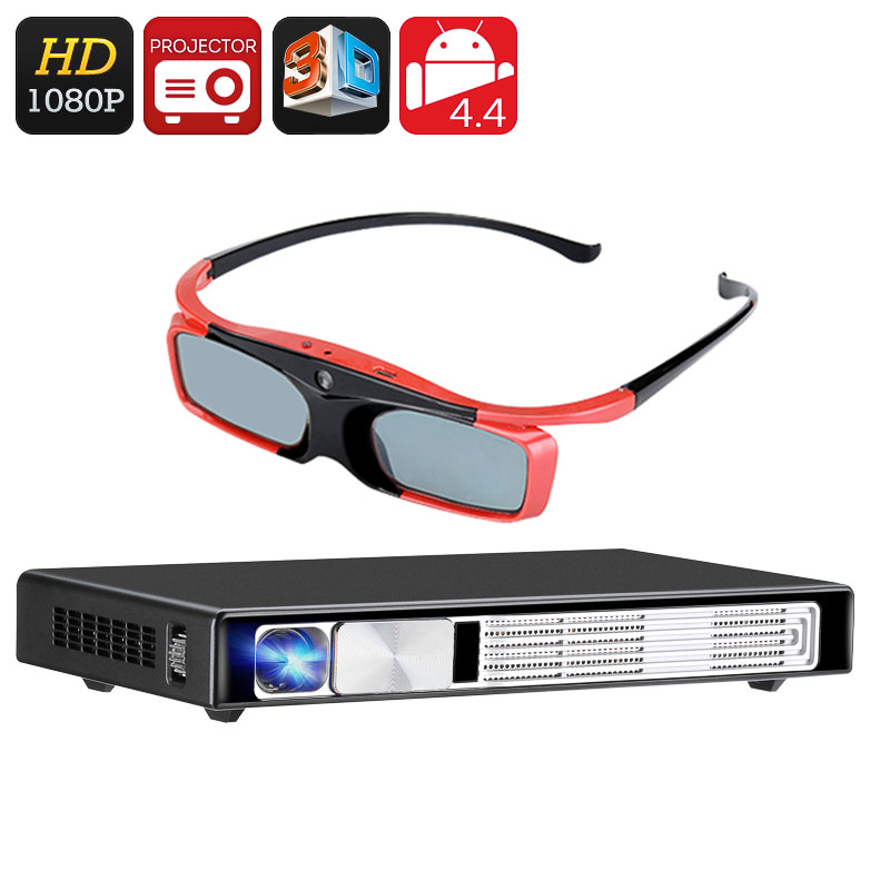 Full hd 3d dlp projector android os bluetooth 4 0 wi for Bluetooth hdmi projector