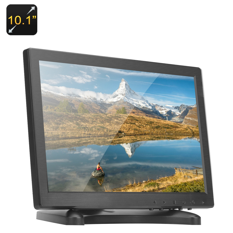 10.1 Inch IPS Monitor - 1280x800, HDMI, VGA, AV, Built-in Speakers, 16:9 Aspect