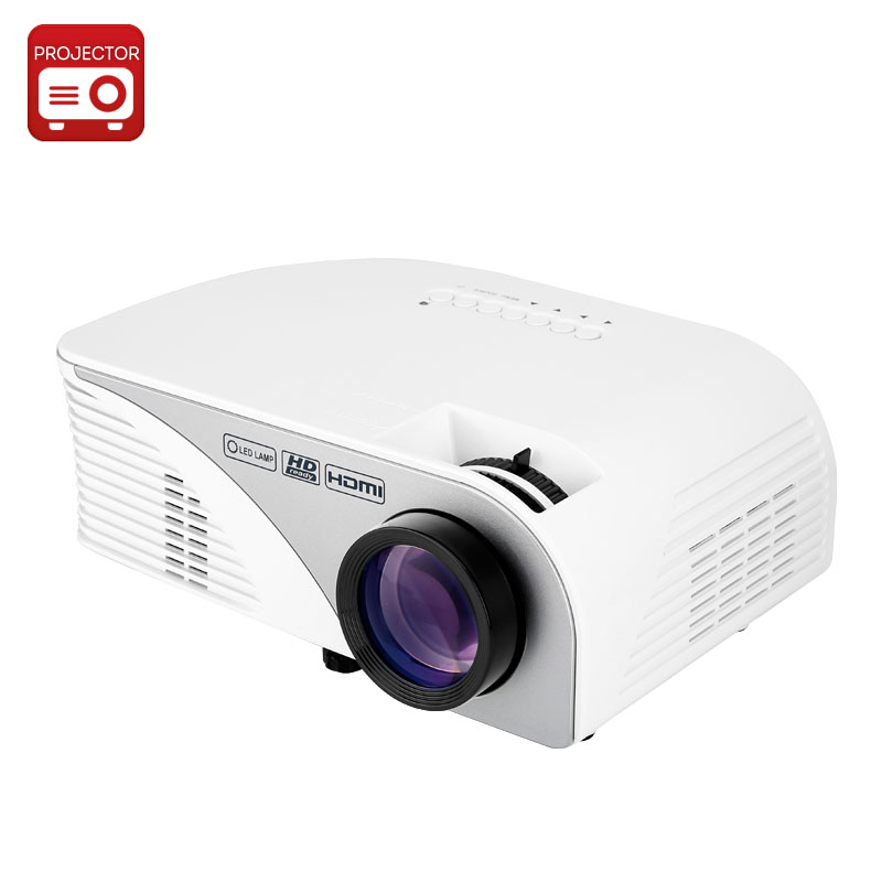 1200 Lumen LCD Projector - 800x480 Resolution, 16:9 Ration, 4 Inch LCD TFT Display, 50,000 Hours