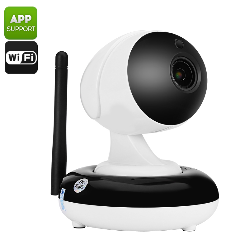 Wi-Fi IP Camera - 1/3 Inch CMOS Sensor, HD 720p, 3X Optical Zoom, Night Vision, Remote Viewing, Wi-Fi, Two Way Communication
