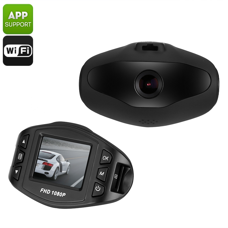 Full HD Dash Cam - 170 Degree Viewing Angle, Sony Sensor, Wi-Fi, 1.5 Inch LCD Screen, G-Sensor, Loop Recording
