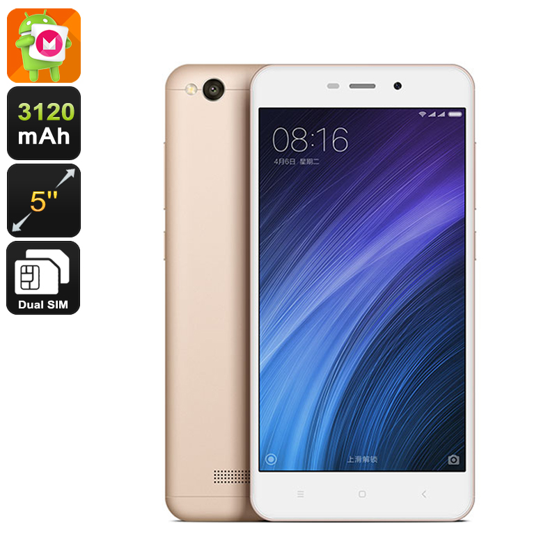 Xiaomi Redmi 4a Android Smartphone - Snapdragon 425 CPU, Dual-Band Wi-Fi, 4G, 2GB RAM, Android 6.0 (Champagne)
