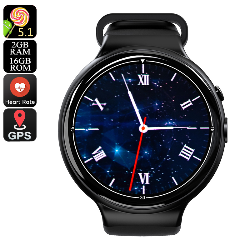 I4 Air Smart Watch Phone - 1 IMEI, 3G, 5MP Camera, WiFi, Music, Pedometer, Heart Rate, Android OS