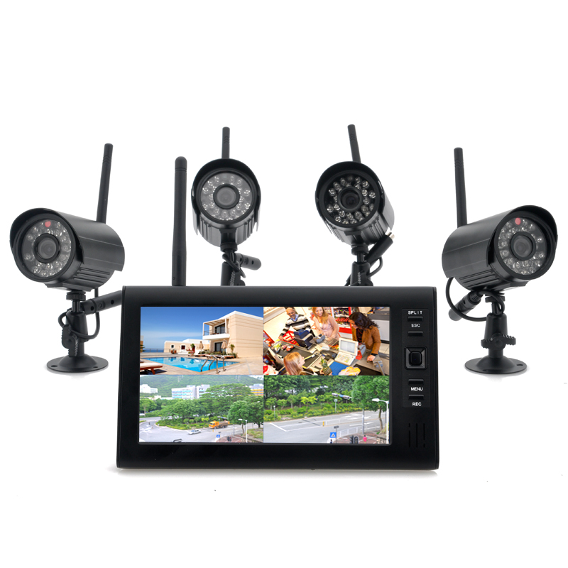 (M) Wireless Monitor + x4 Camera System - Securia (M)