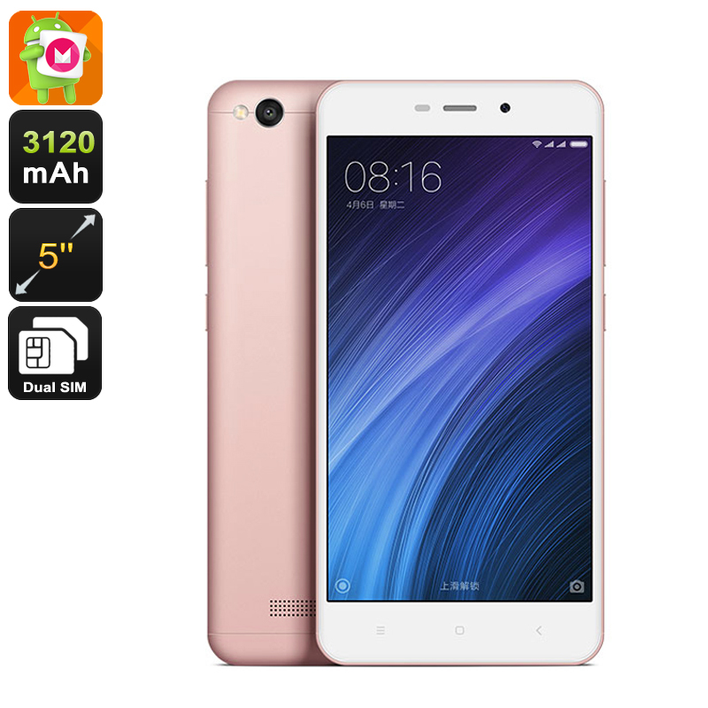 Xiaomi Redmi 4a Android Smartphone - Android 6.0, Snapdragon 425 CPU, 2GB RAM, Dual-Band Wi-Fi, 4G (Rose-Gold)