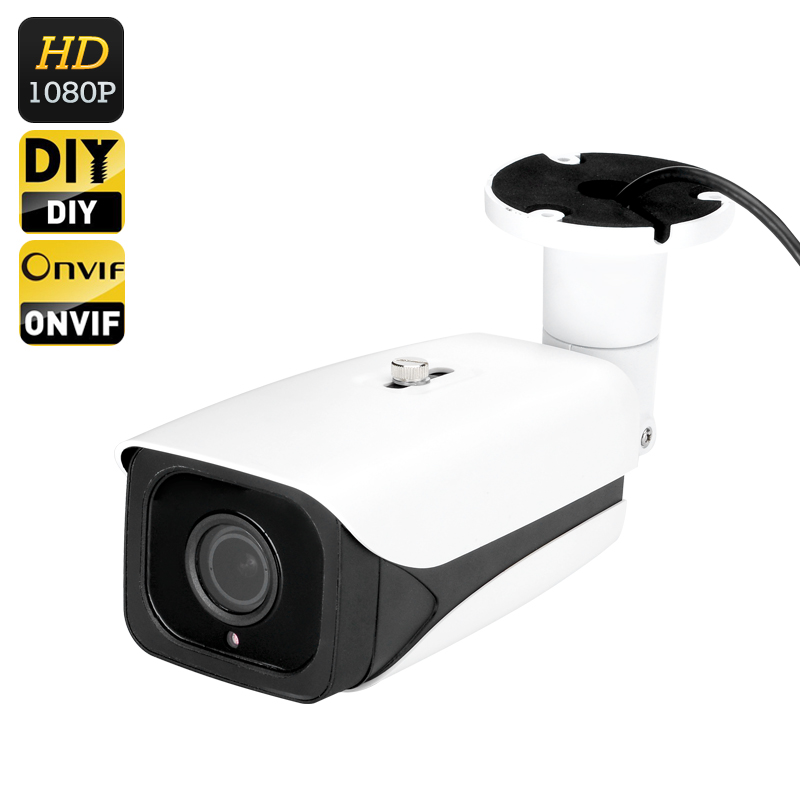 1/2.8 Inch CMOS IP Camera - 1080P Full HD, IR Cut, 40M Night Vision, ONVIF 2.0,